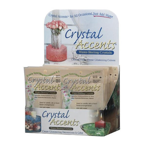 Soil Moist 1oz Crystal Accents Assorted Colors 24 Count Shelf Display