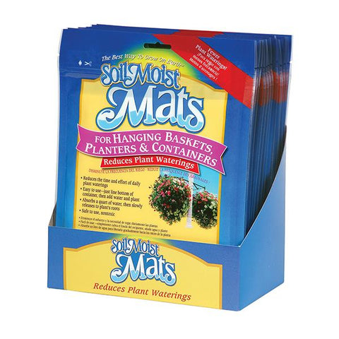 Soil Moist Hanging Mats 12 Count Shelf Display