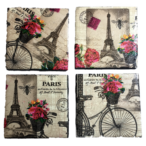 CraftAddicted Handmade Coasters Set of 4 - 4 Pack