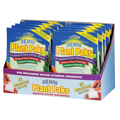 Soil Moist Plus Paks 12 Count Shelf Display