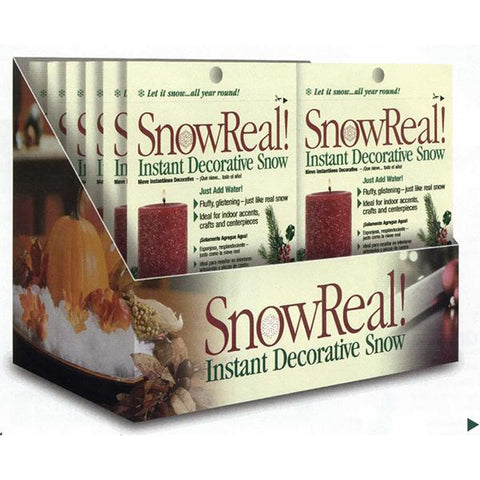 Soil Moist 1oz Snow Real 24 Count Shelf Display