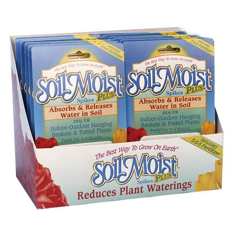 Soil Moist Plus Spikes 12 Count Shelf Display
