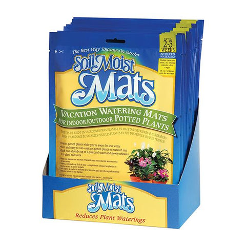 Soil Moist Vacation Mats 12 Count Shelf Display