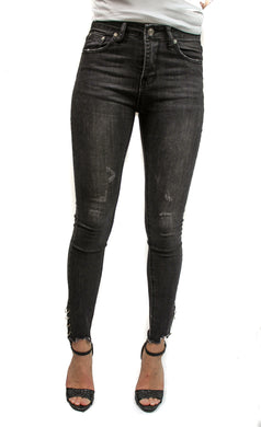 Grey Ring Jeans - Manhers Fashion