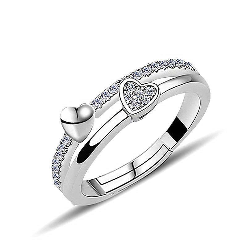 Silver Heart Ring - Manhers Fashion
