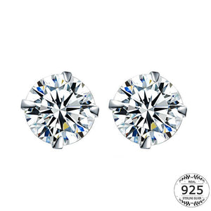 Sterling Silver Stud Earring - Manhers Fashion
