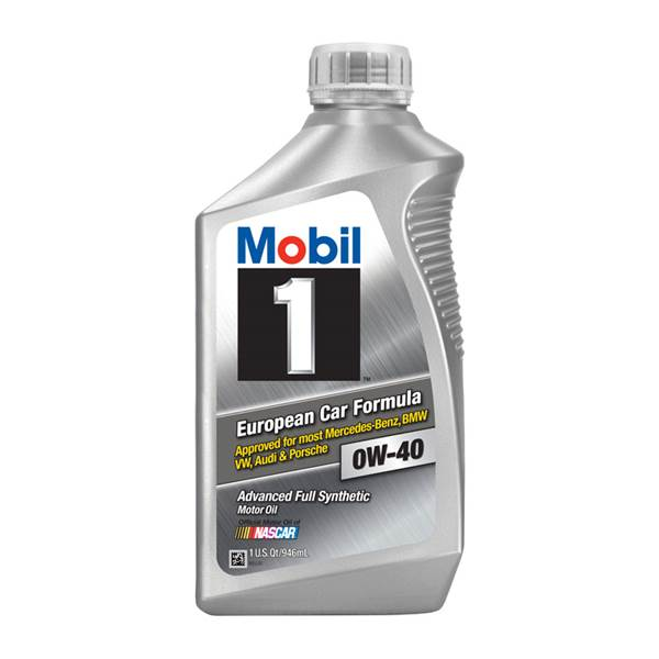 Mobil 1 0W40 European Formula Fully Synthetic Motor Oil