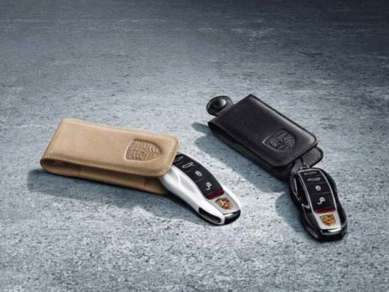 Porsche Tequipment Key Pouch In Leather