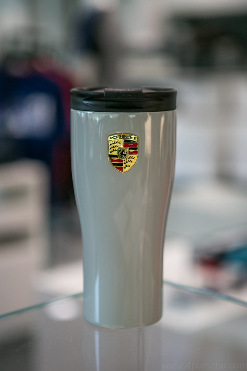 Porsche Driver's Selection Stainless Steel Thermal / Coffee Mug with Crest - Chalk