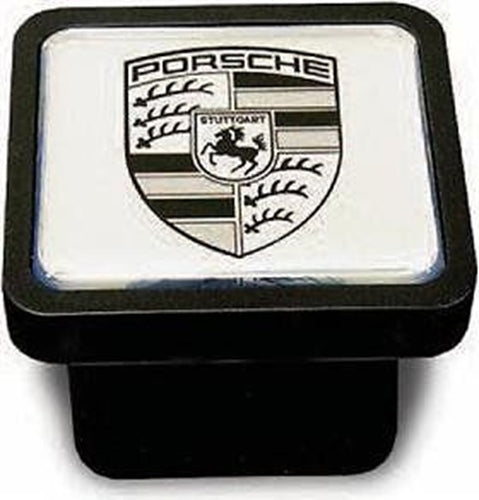 Porsche Tequipment Cayenne Trailer Hitch Cover - Black on Silver