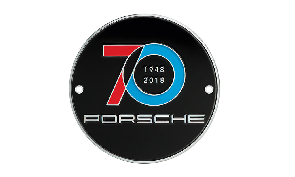 Porsche Driver's Selection Limited Edition Grill Badge - 70 Years Porsche