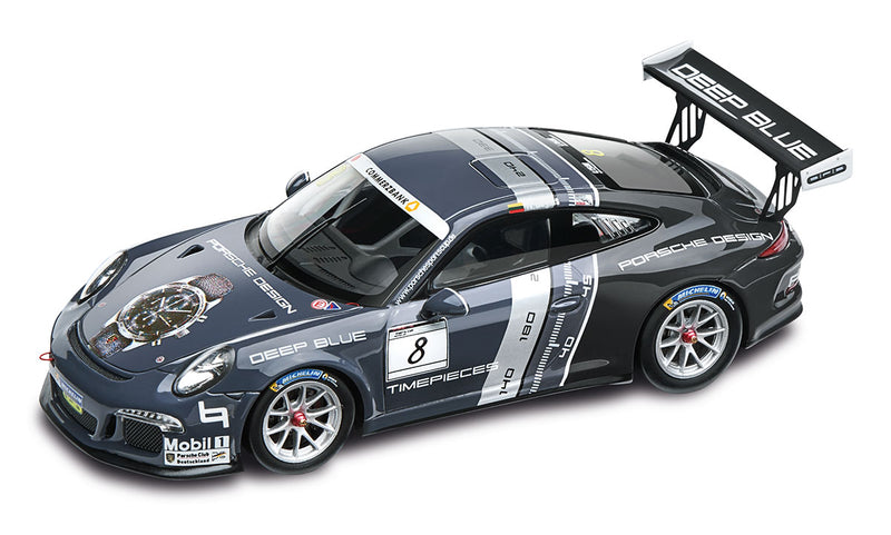 Porsche 911 GT3 Cup 1:43 Model Car - #8. Deep Blue. Porsche Design