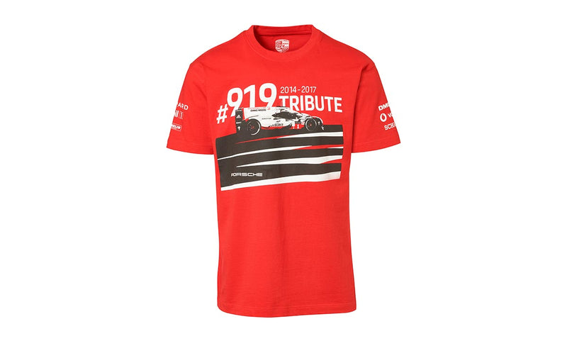 Porsche Driver's Selection Unisex T-shirt- Red- 919 Tributes