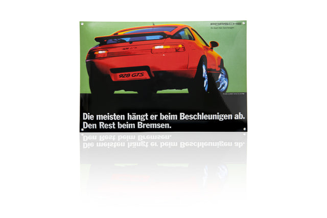 Porsche Design Driver's Selection Classic Enamel Sign - 928 GTS