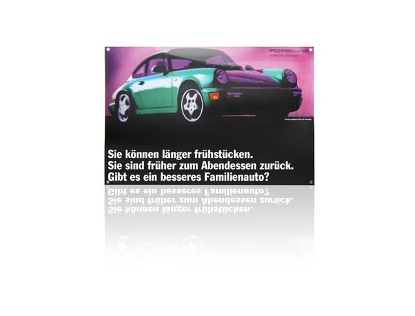 Porsche Driver's Selection Classic Enamel Sign - 964 Coupe