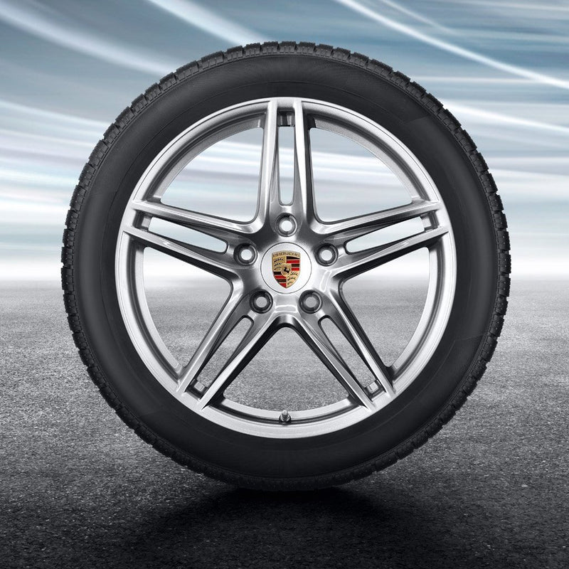 "19-inch ""Carrera"" Winter Set - for wide body 911 (991.2) - in Silver"