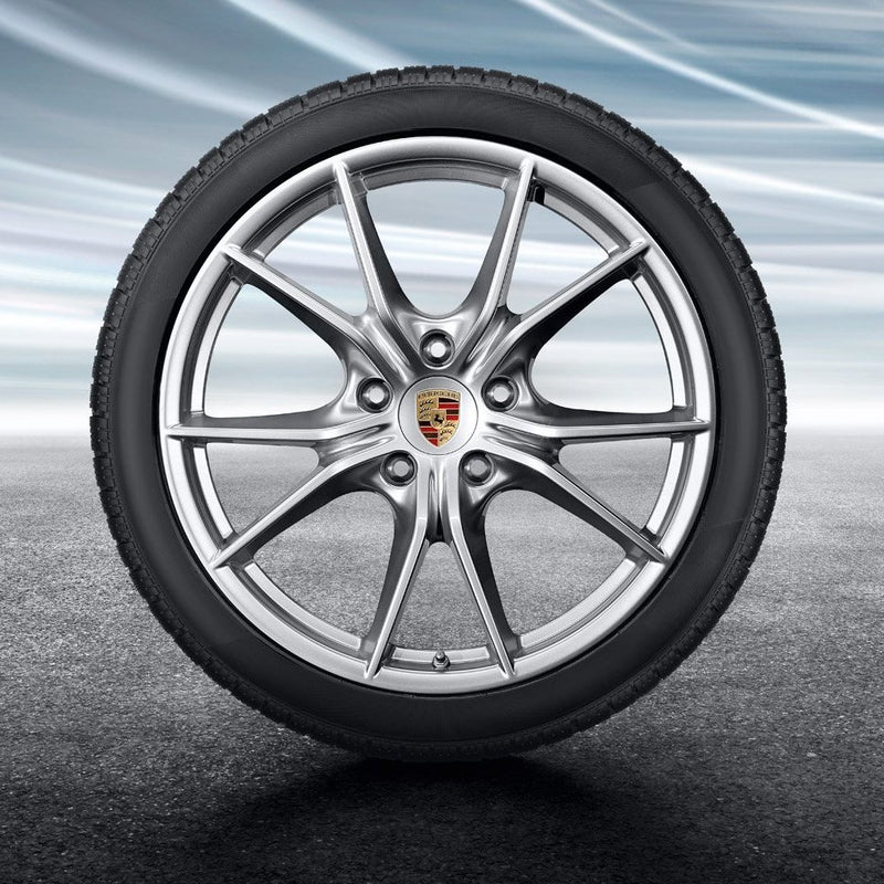 "20-inch ""Carrera S"" Winter Set - for wide body 911 (991.2) - in Silver"