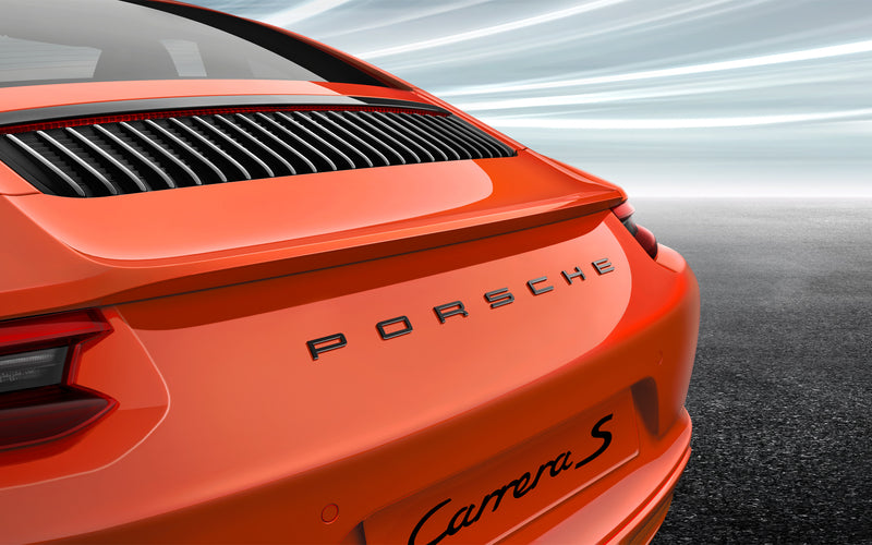 Painted PORSCHE logo - for 991.2 generation 911 models