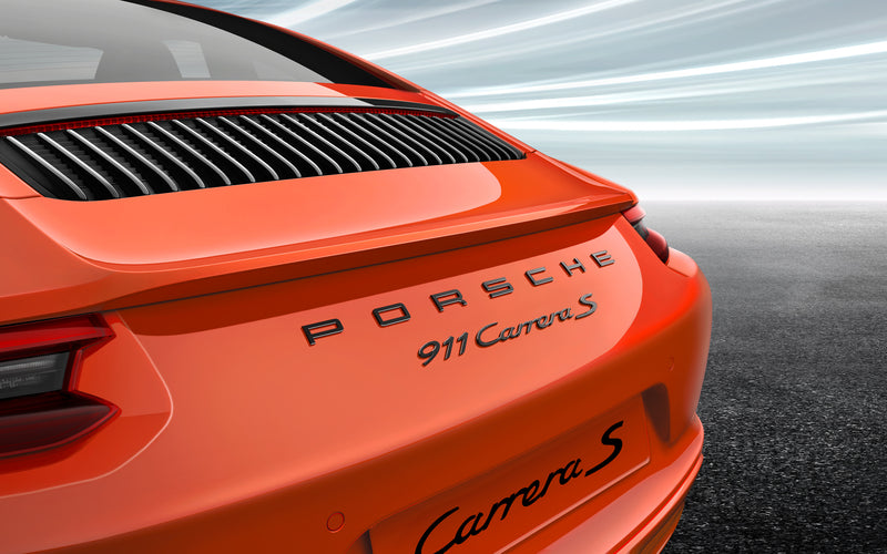 "Painted ""PORSCHE"" and ""911 Carrera S"" logo - for 991.2 generation 911 models"