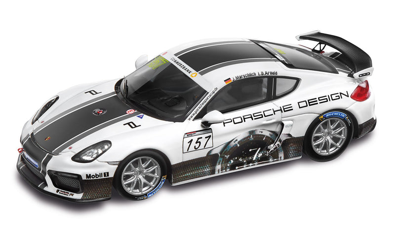 Porsche Cayman GT4 Clubsport 1:43 Model Car - Porsche Design Livery