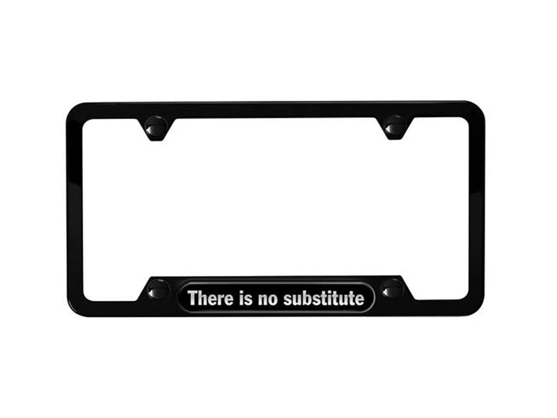 "Porsche Tequipment License Plate Frame ""There is no substitute""- Black"