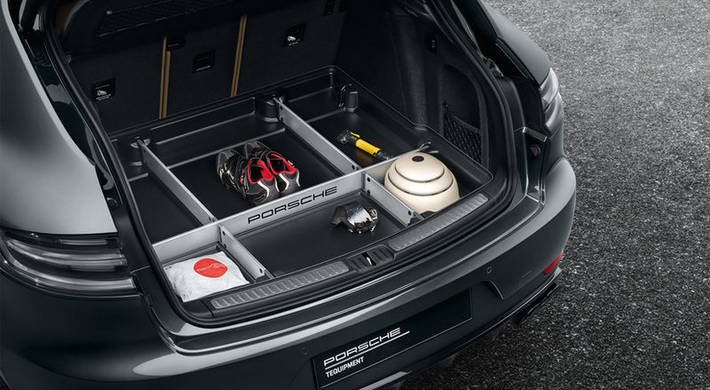 Porsche Tequipment Luggage compartment liner with variable organiser system-Macan II