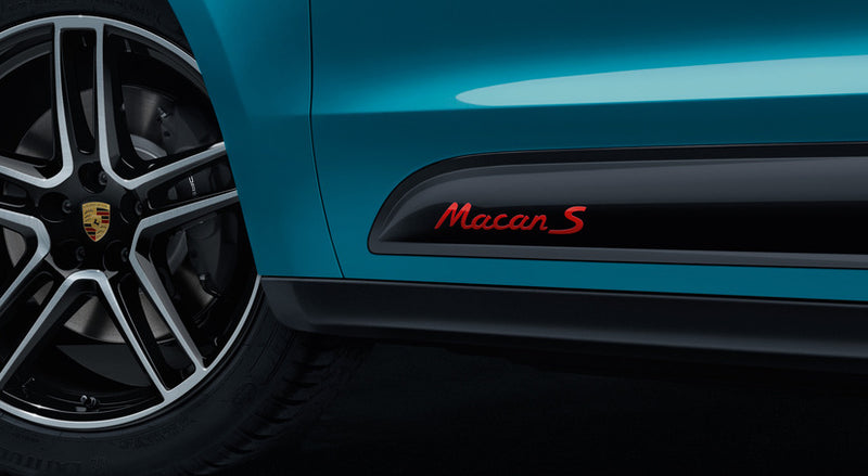 Model designation On Sideblades- Macan S II