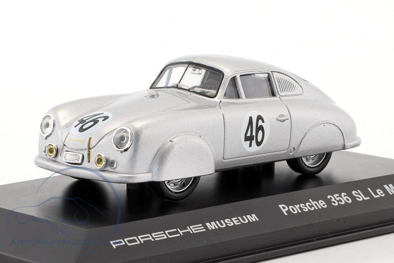 1951 Porsche 356 SL Le Mans 1:43 Model Car - Silver
