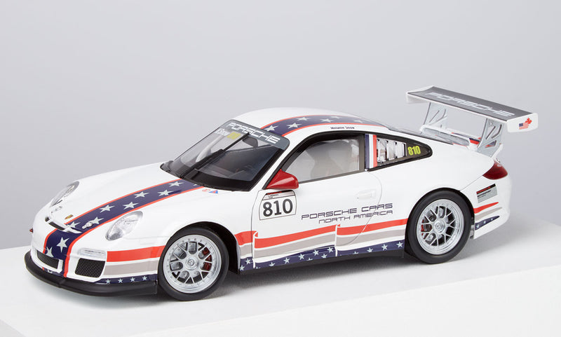 Porsche 911 (997) GT3 Cup 1:18 Model Car - US Flag livery