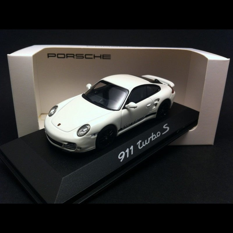 Porsche 911 (997) Turbo S 1:43 Model Car - White, Museum Collection