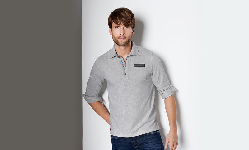 29a46877b ... Porsche Driver s Selection Men s Long-sleeve Rugby Polo Shirt - Classic  Collection ...