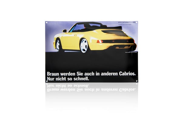 Porsche Design Driver's Selection Classic Enamel Sign - 964 Cabriolet