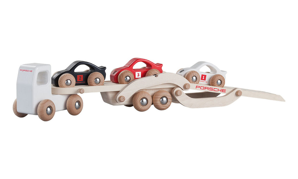 Porsche Driver's Selection NEW Kids Toy Wooden Race Car Truck