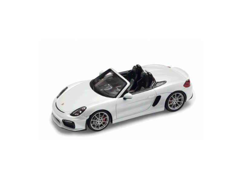 Porsche 981 Boxster Spyder 1:43 Model Car - White
