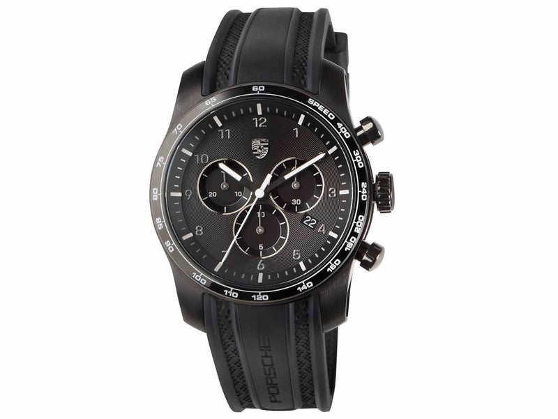 Porsche Driver's Selection 992 Sport Chrono Watch, Black - 911 Collection