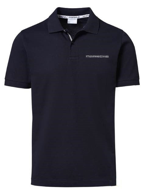 Men's Polo Shirt with PORSCHE lettering - Dark Blue - USA-only release