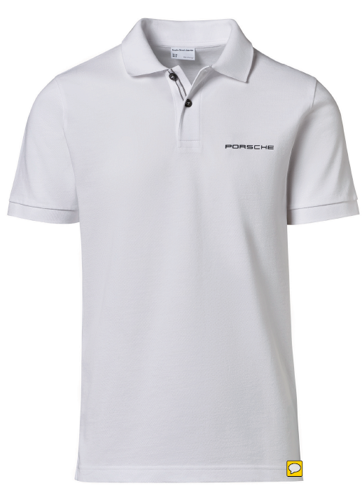 Men's Polo Shirt with PORSCHE lettering - White - USA-only release