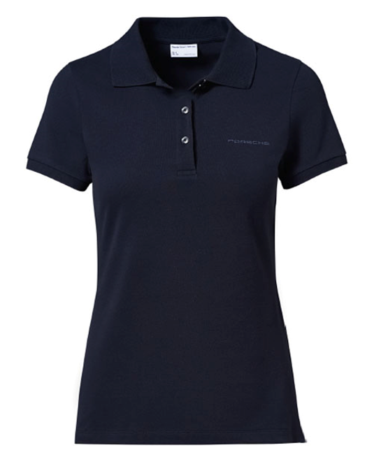 Women's Polo Shirt with PORSCHE lettering - Dark Blue - USA-only release