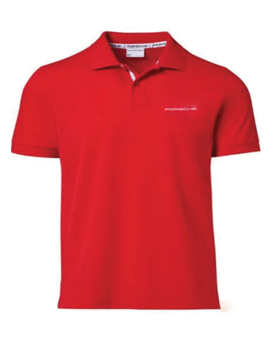 Women's Polo Shirt with PORSCHE lettering - Red - USA-only release