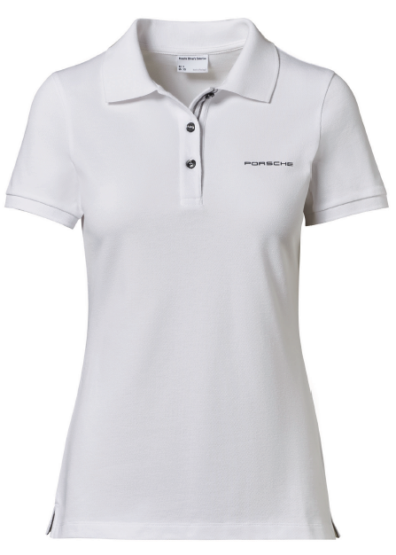 Women's Polo Shirt with PORSCHE lettering - White - USA-only release