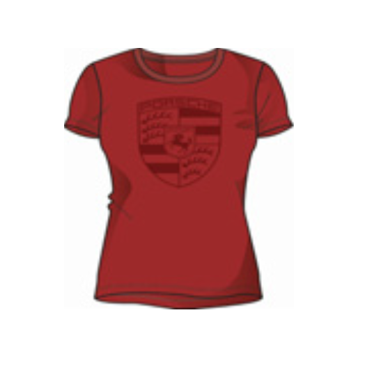 Porsche Driver's Selection Crest Women's T-Shirt - Red (US-market release)