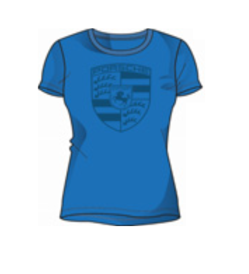 Porsche Driver's Selection Crest Women's T-Shirt - Blue (US-market release)