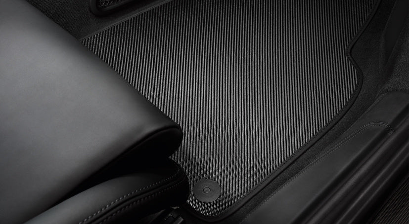 Porsche Tequipment Carbon Floor Mats With Leather Edging