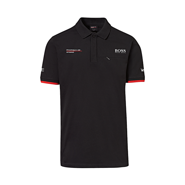 Porsche Driver's Selection Men's Polo Hugo Boss (Black)- Motorsport Collection