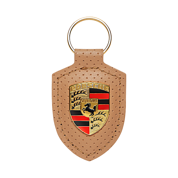 Porsche Driver's Selection Leather Keychain- Heritage Collection