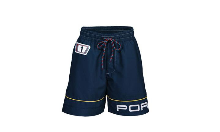 Porsche Driver's Selection Boy's Swim Trunks - Martini Racing Collection