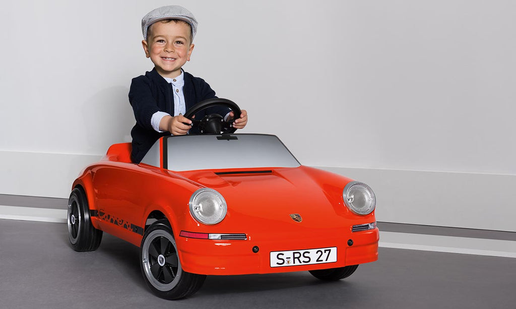Porsche Driver's Selection Carrera RS 2.7 Pedal Car In Blood Orange