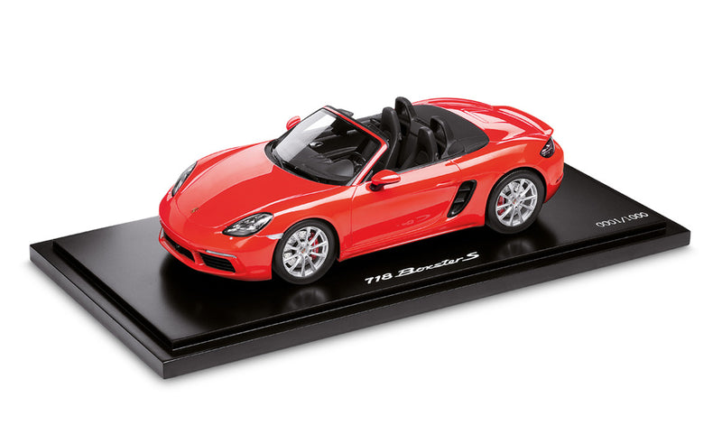 Porsche 718 Boxster S (982) 1:18 Scale Model Car - Lava Orange