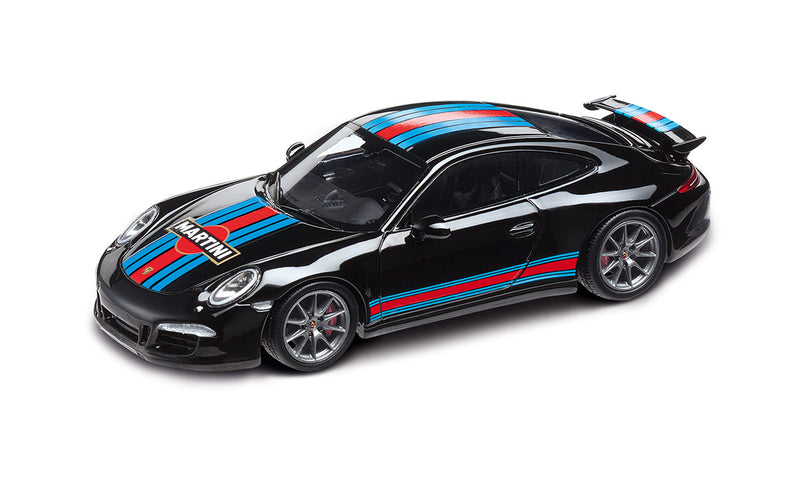 Porsche 911 (991) Carrera S Aerokit Cup 1:43 Model Car - Black, Martini Racing Livery