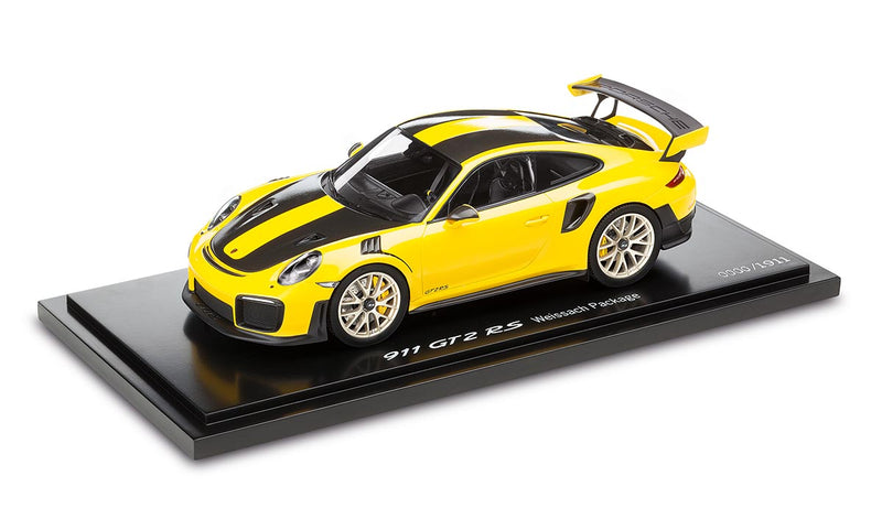 Porsche 911 GT2 RS with Weissach Package 1:18 Model Car - Racing Yellow (Limited Edition)